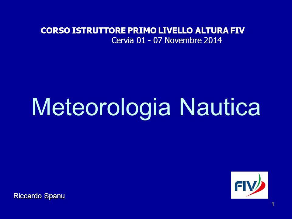 Meteorologia Nautica CORSO ISTRUTTORE PRIMO LIVELLO ALTURA FIV