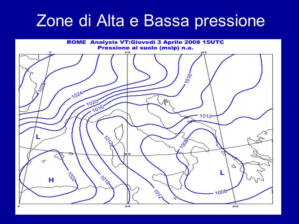 Zone di Alta e Bassa pressione