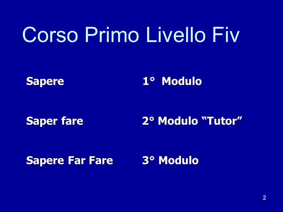 Corso Primo Livello Fiv