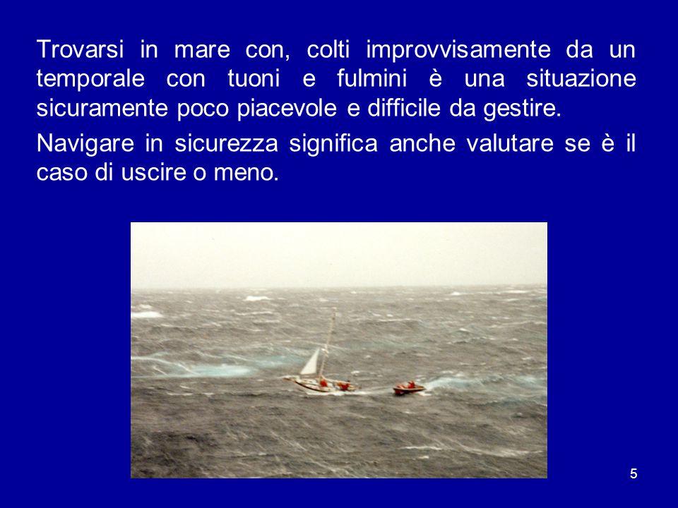 Trovarsi in mare con, colti improvvisamente da un temporale con tuoni e fulmini è una situazione sicuramente poco piacevole e difficile da gestire.