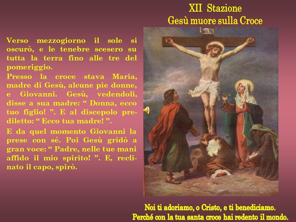 XII Stazione Gesù muore sulla Croce
