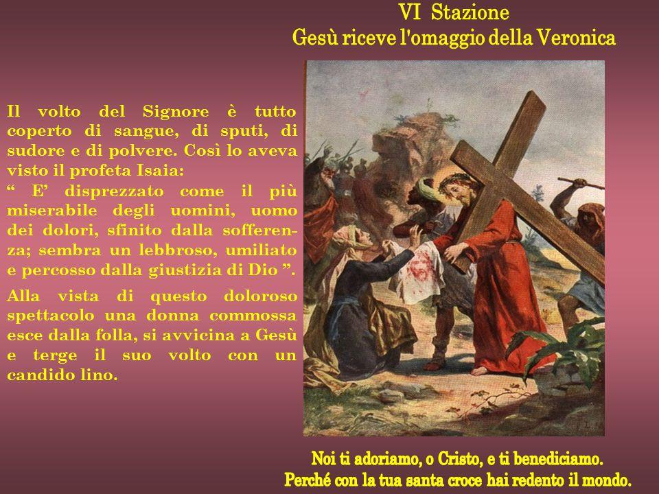 Gesù riceve l omaggio della Veronica