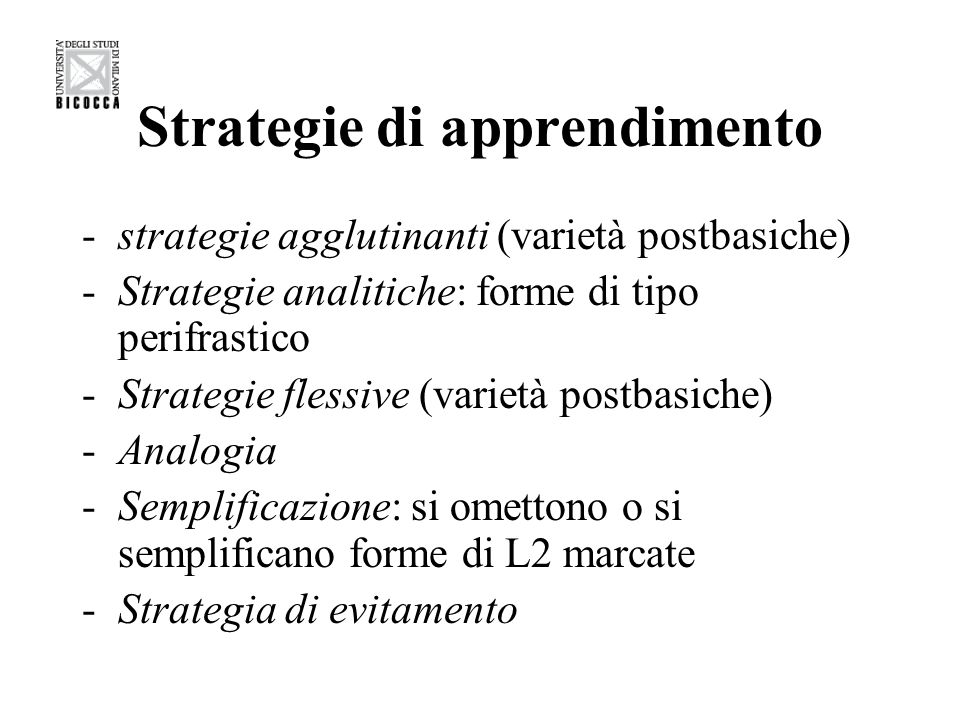 Strategie di apprendimento