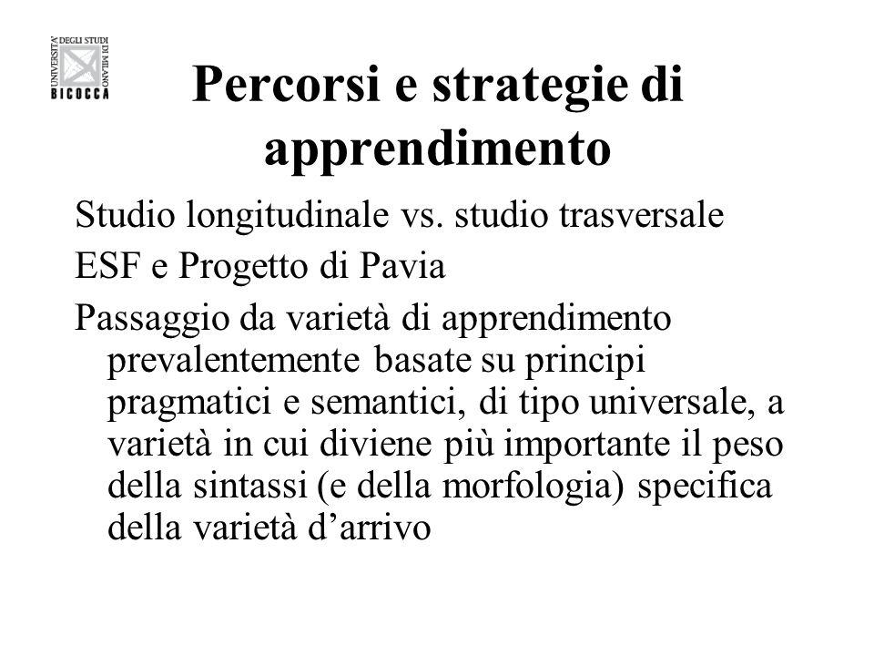 Percorsi e strategie di apprendimento