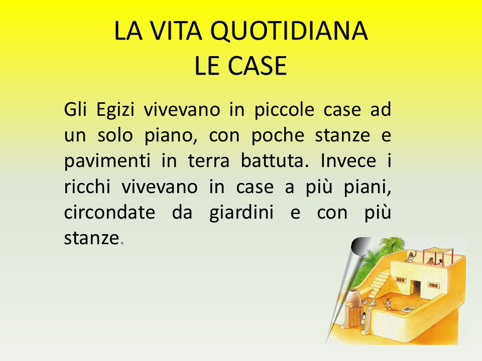 LA VITA QUOTIDIANA LE CASE