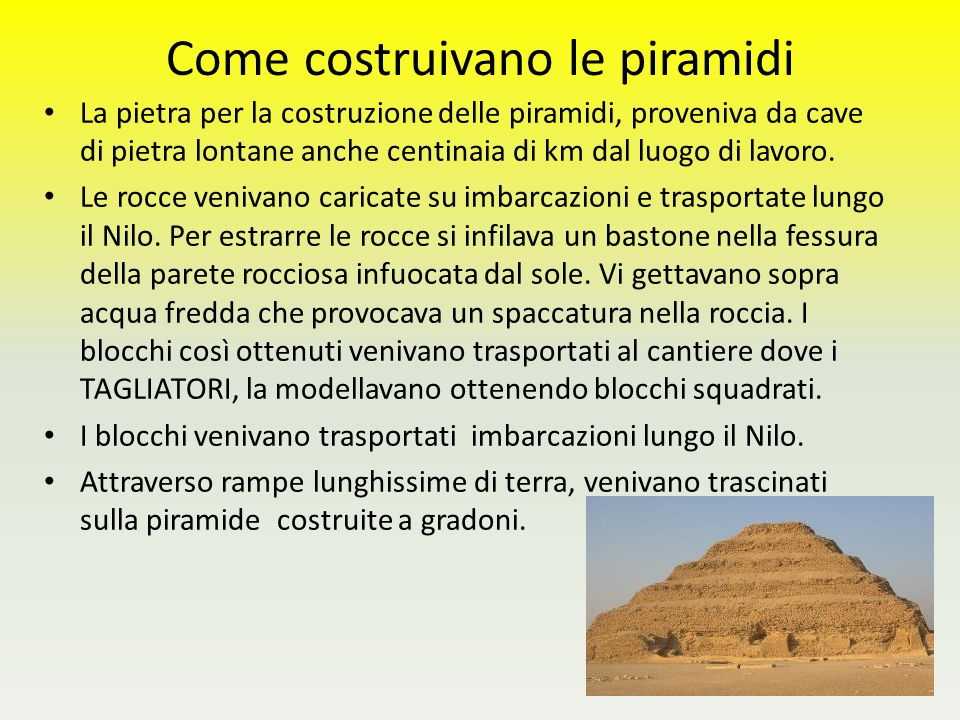 Come costruivano le piramidi