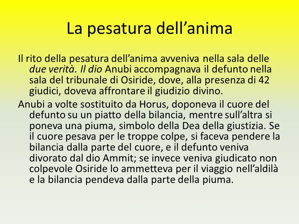 La pesatura dell'anima