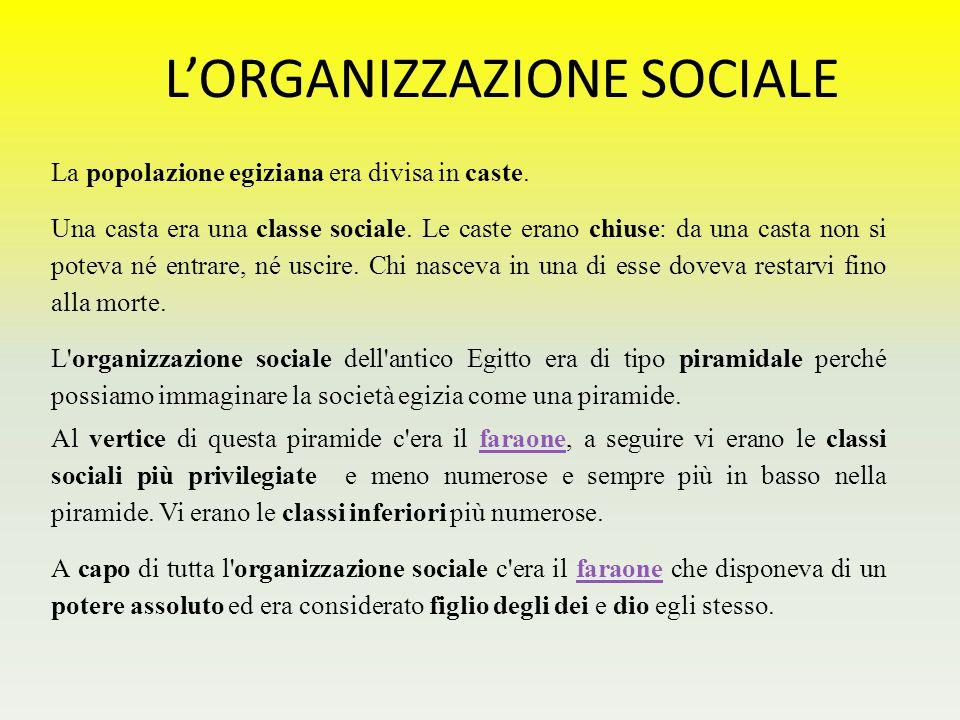 L'ORGANIZZAZIONE SOCIALE
