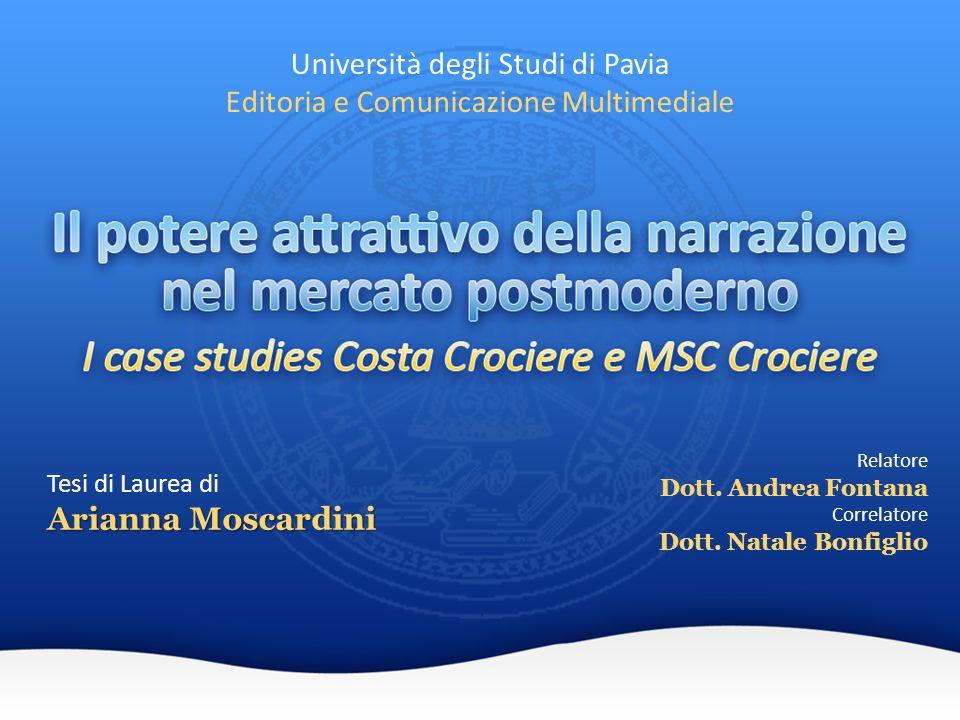 Università degli Studi di Pavia Editoria e Comunicazione Multimediale