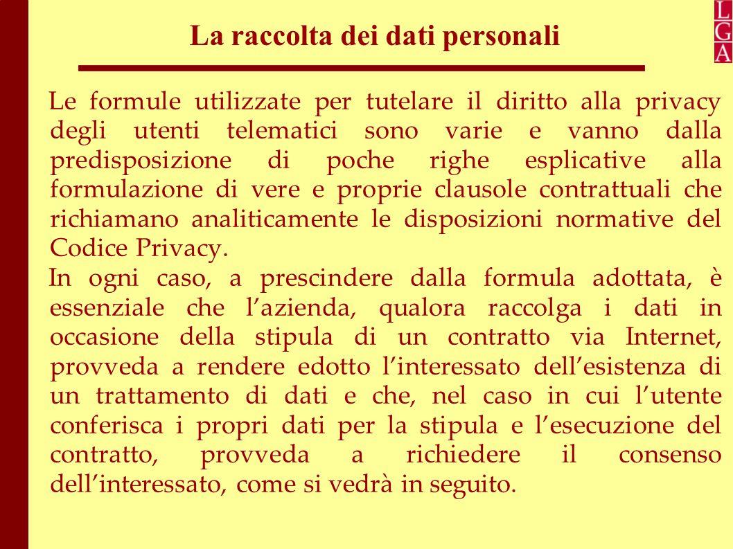 La raccolta dei dati personali