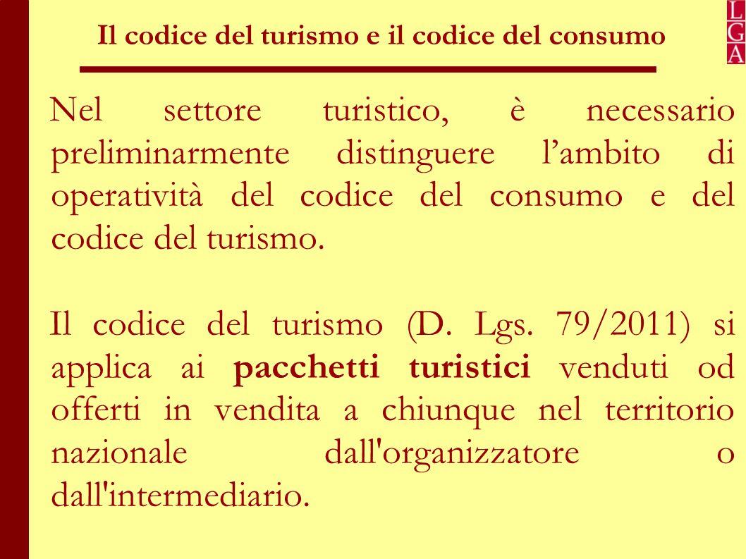 Il codice del turismo e il codice del consumo