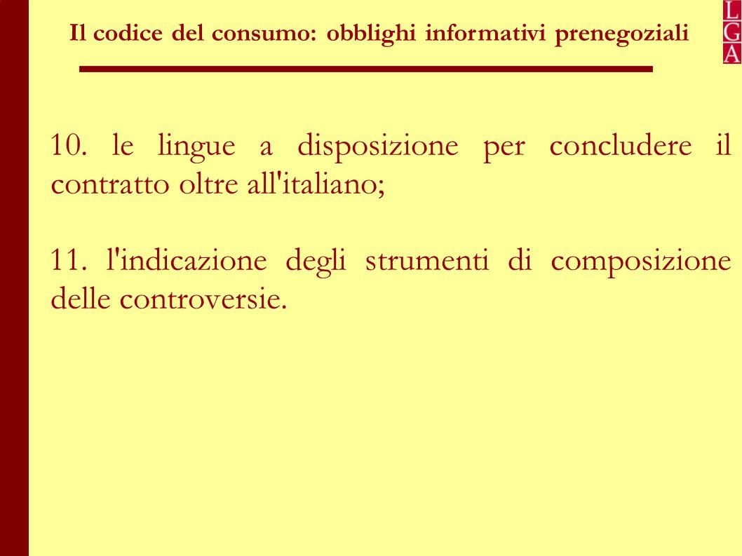 Il codice del consumo: obblighi informativi prenegoziali