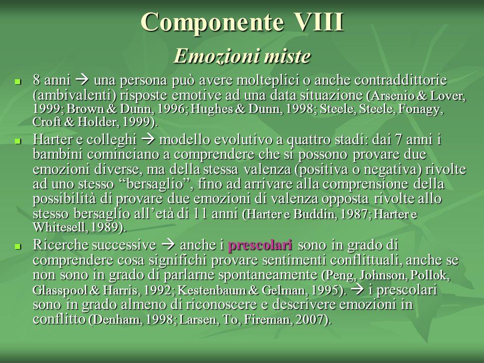 Componente VIII Emozioni miste
