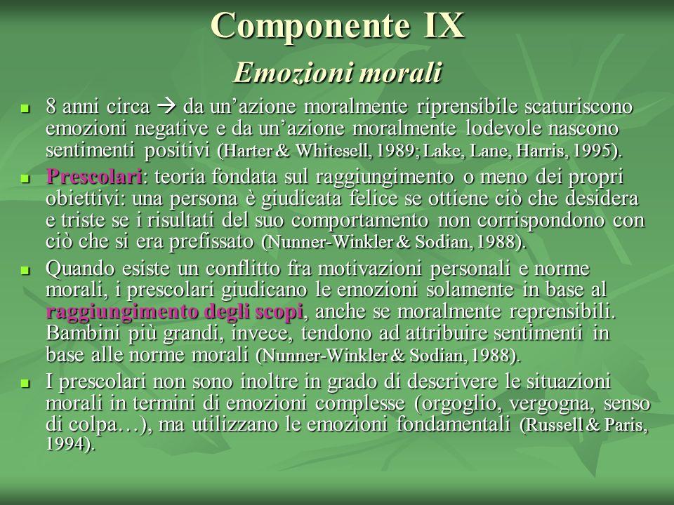 Componente IX Emozioni morali