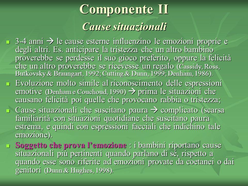 Componente II Cause situazionali