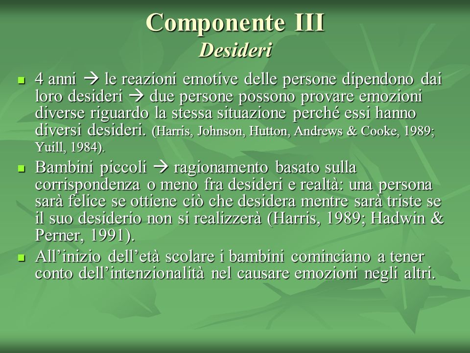 Componente III Desideri