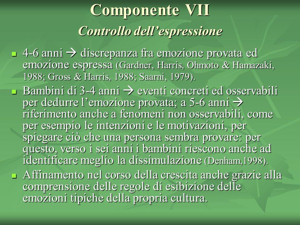 Componente VII Controllo dell'espressione
