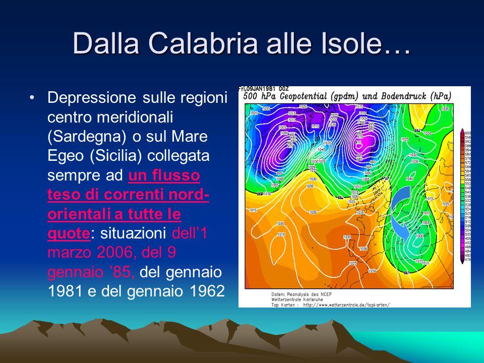 Dalla Calabria alle Isole…