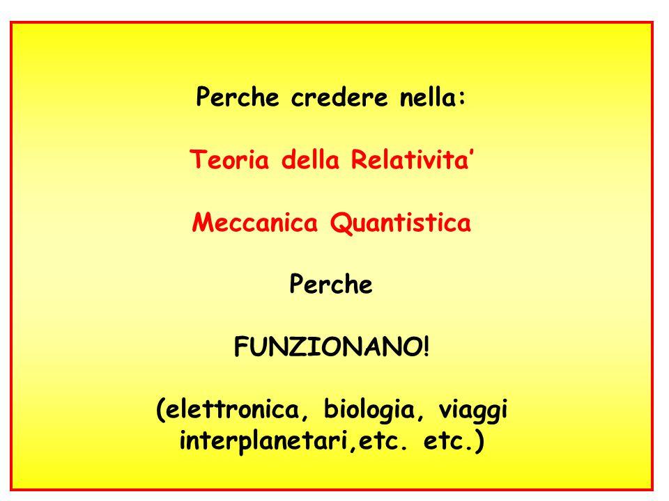 Teoria della Relativita' Meccanica Quantistica Perche FUNZIONANO!