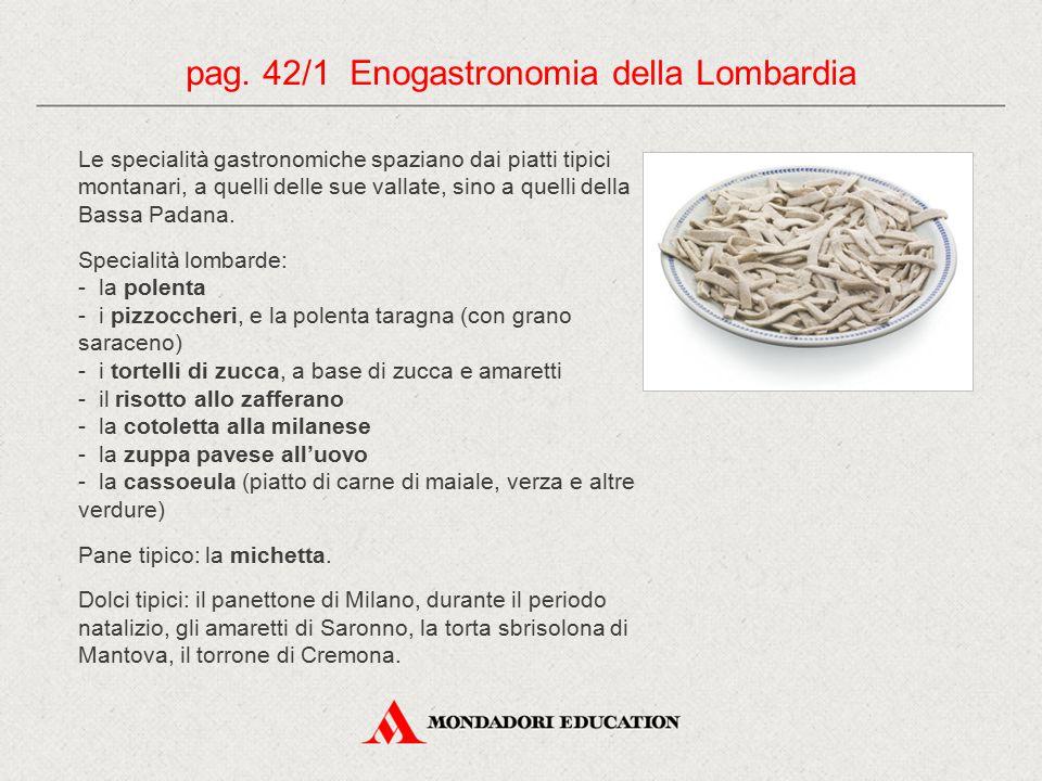 pag. 42/1 Enogastronomia della Lombardia