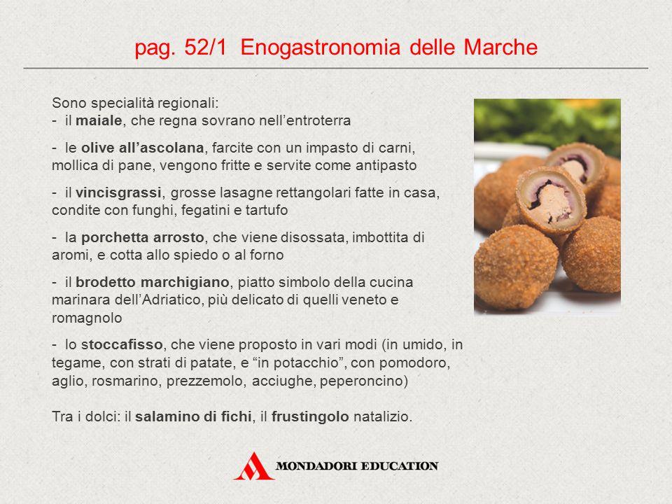 pag. 52/1 Enogastronomia delle Marche