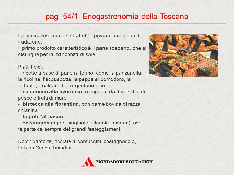pag. 54/1 Enogastronomia della Toscana