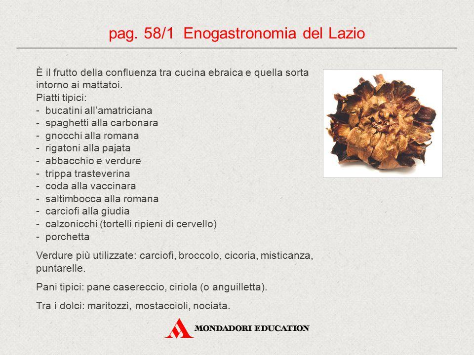 pag. 58/1 Enogastronomia del Lazio