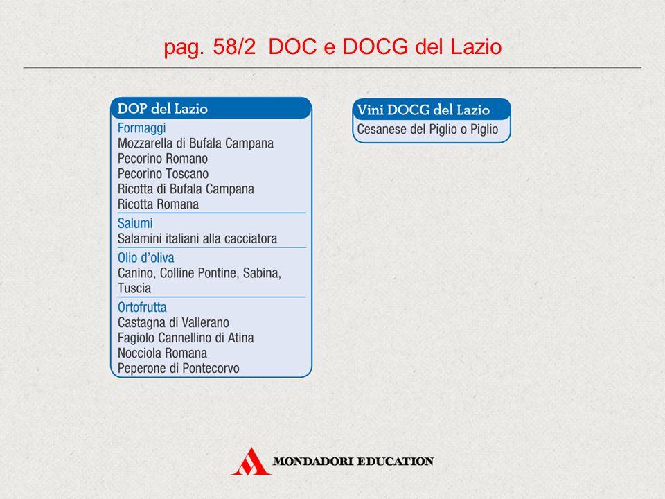 pag. 58/2 DOC e DOCG del Lazio