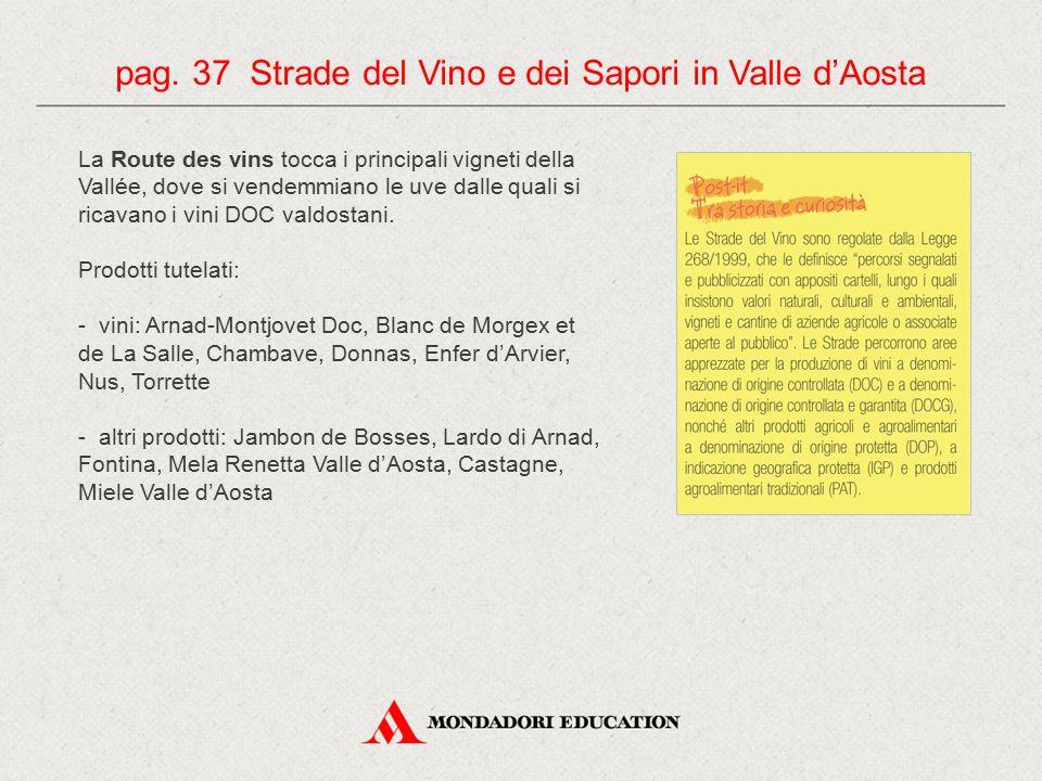 pag. 37 Strade del Vino e dei Sapori in Valle d'Aosta