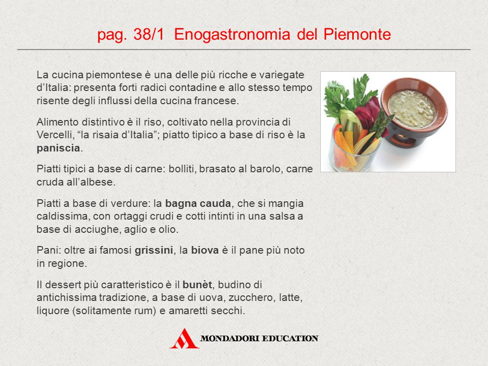 pag. 38/1 Enogastronomia del Piemonte