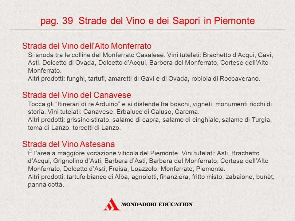 pag. 39 Strade del Vino e dei Sapori in Piemonte