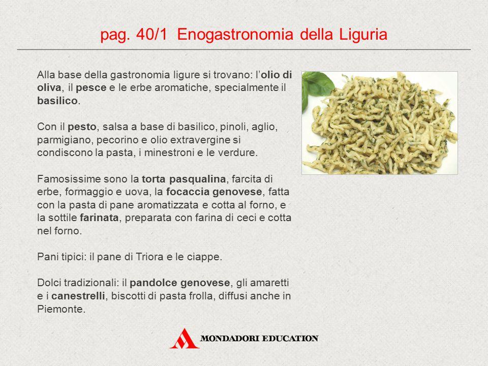 pag. 40/1 Enogastronomia della Liguria