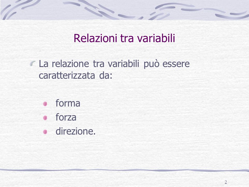Relazioni tra variabili