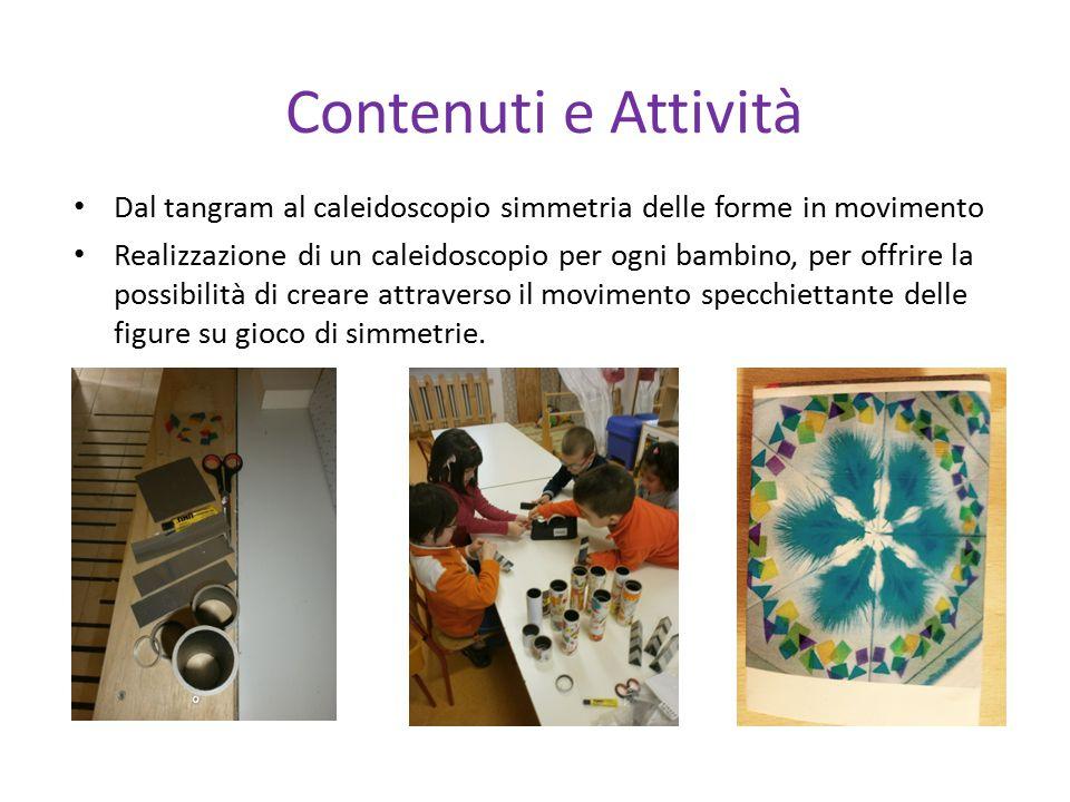 Contenuti e Attività Dal tangram al caleidoscopio simmetria delle forme in movimento.