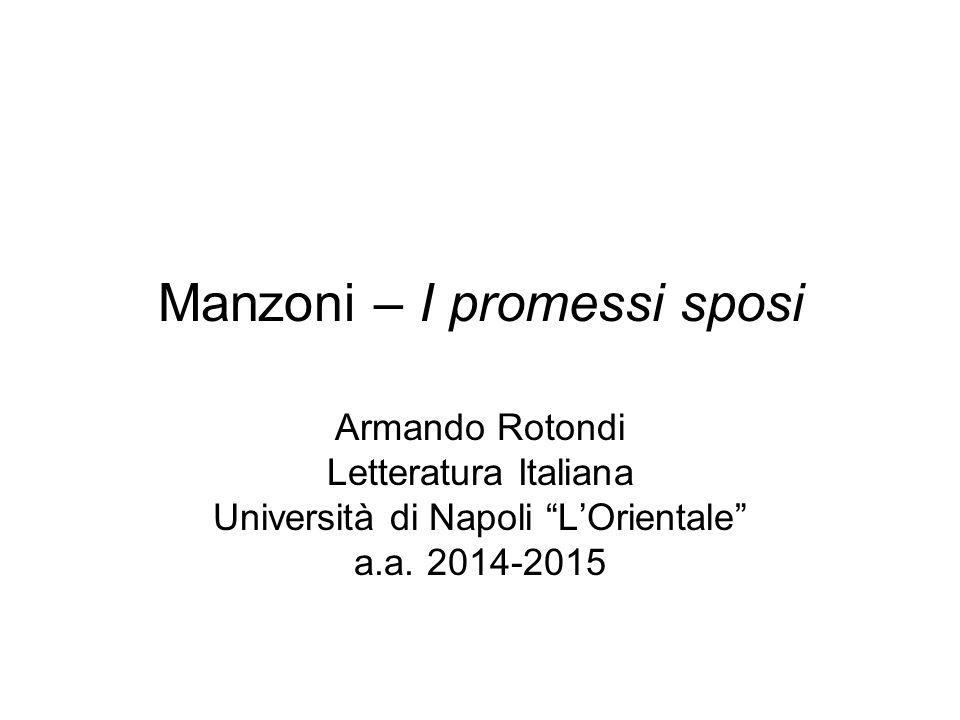 Manzoni – I promessi sposi