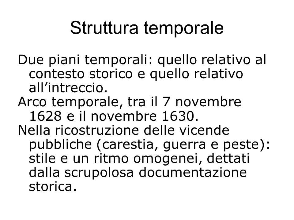 Struttura temporale Due piani temporali: quello relativo al contesto storico e quello relativo all'intreccio.
