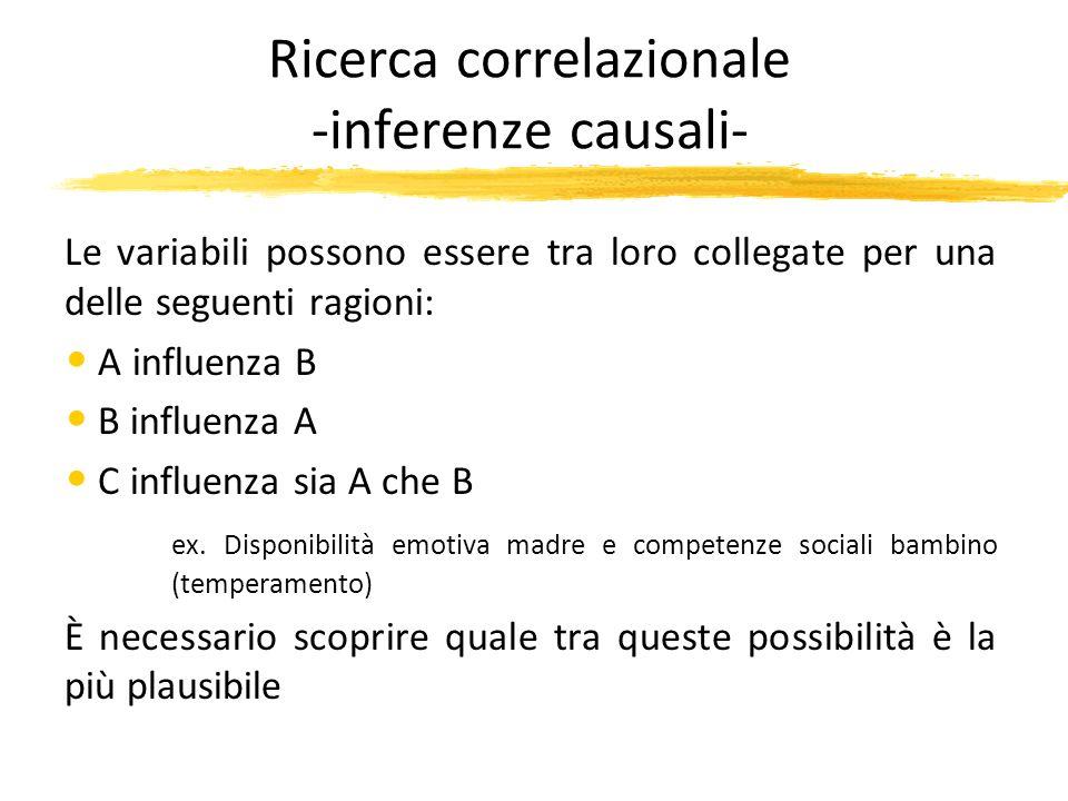 Ricerca correlazionale -inferenze causali-