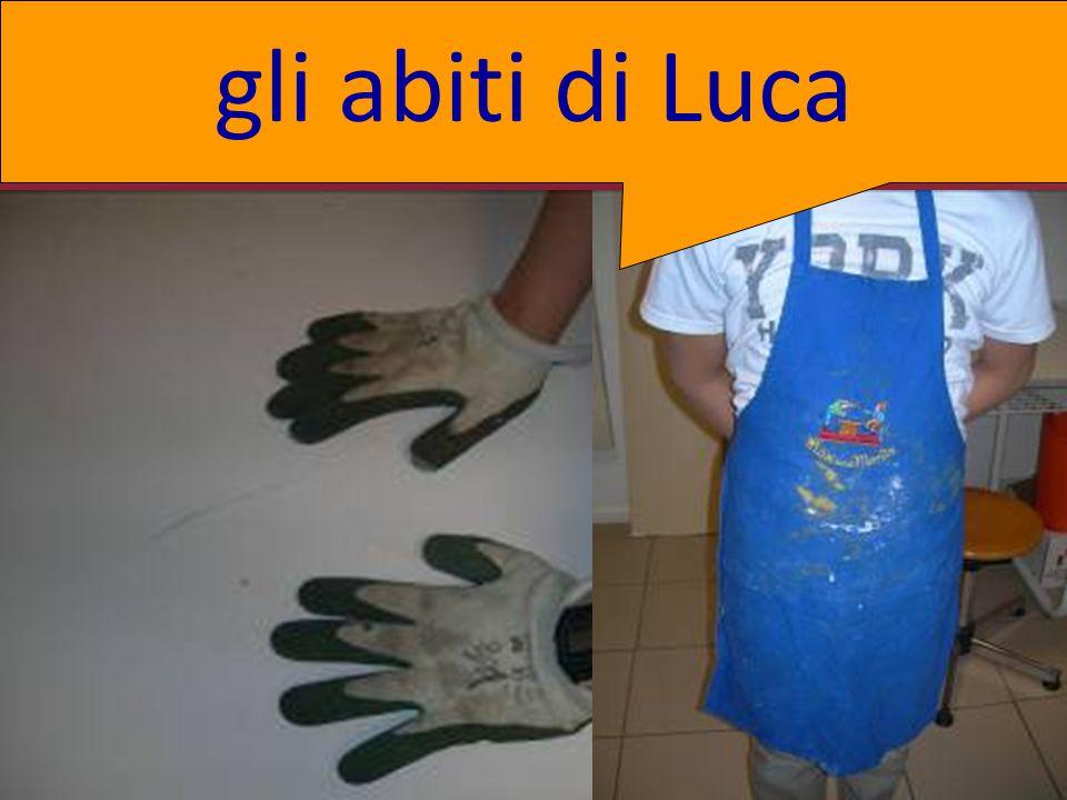 gli abiti di Luca .