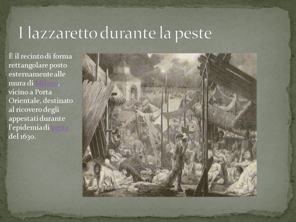 I lazzaretto durante la peste
