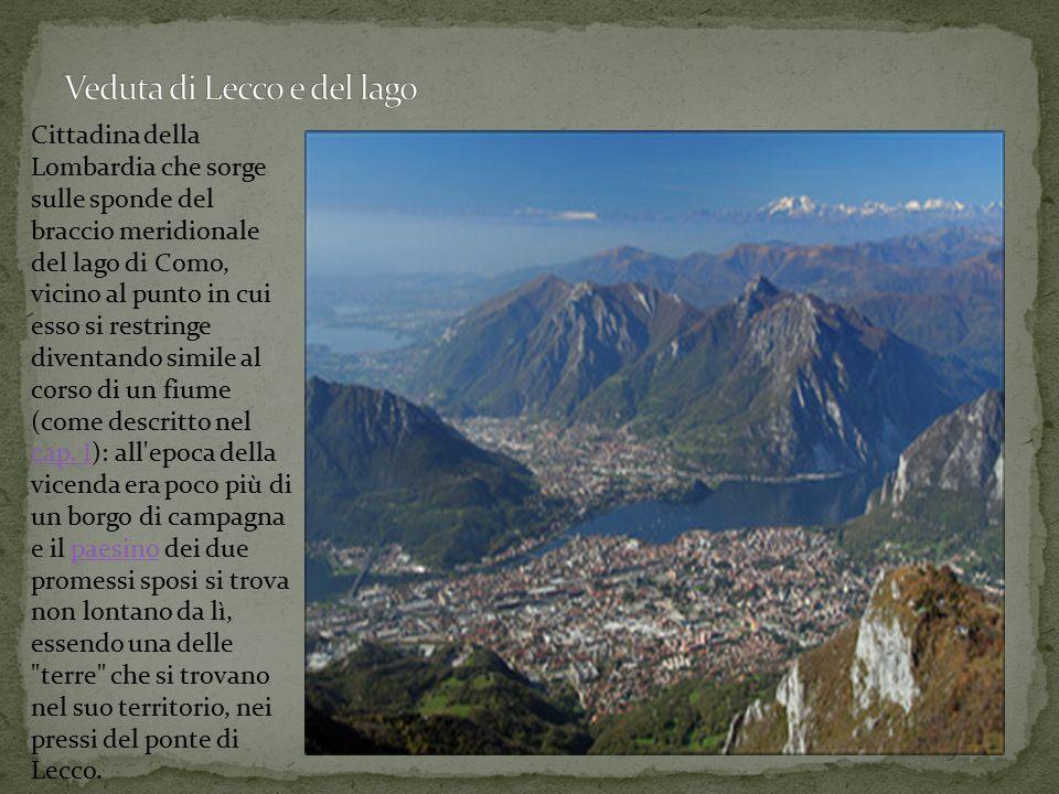 Veduta di Lecco e del lago