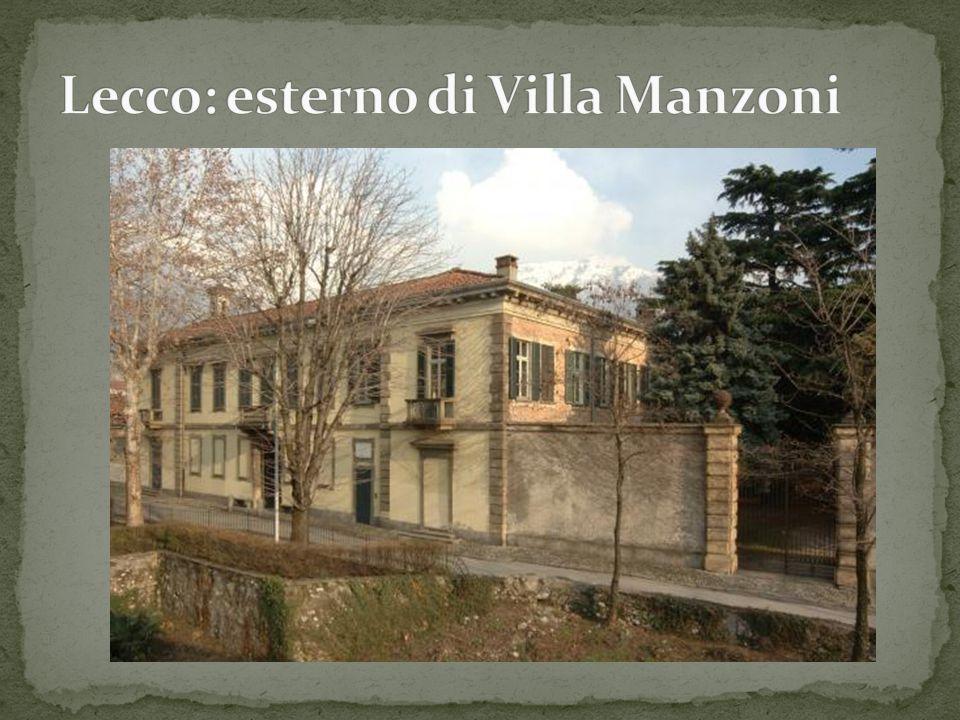 Lecco: esterno di Villa Manzoni