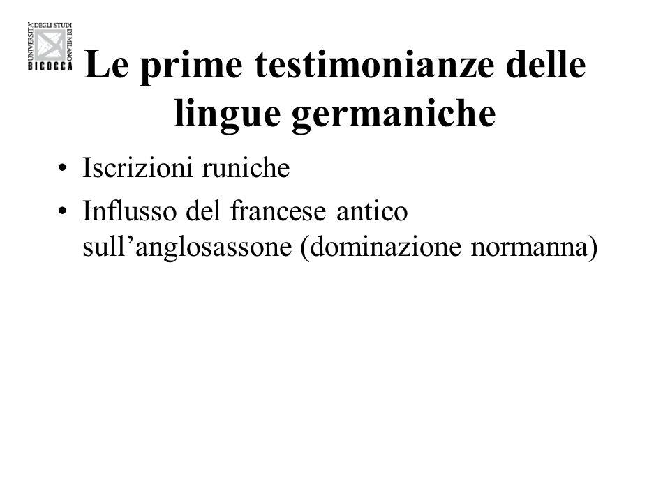 Le prime testimonianze delle lingue germaniche