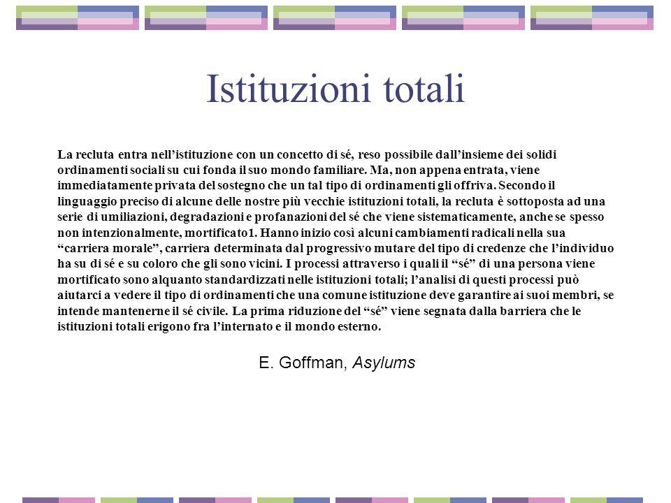 Istituzioni totali E. Goffman, Asylums