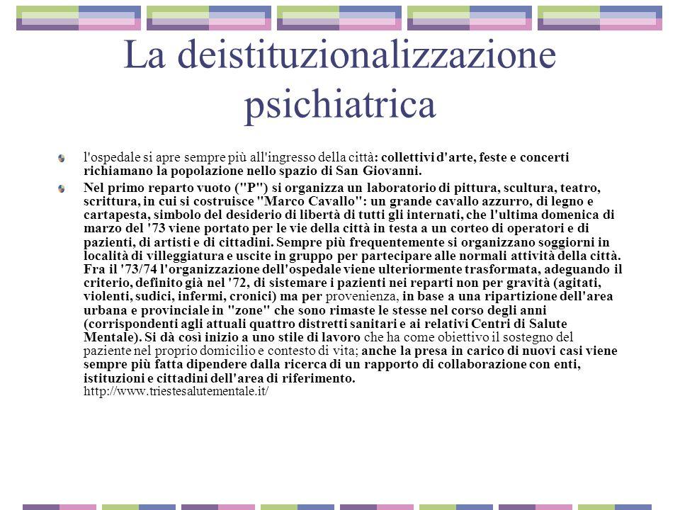 La deistituzionalizzazione psichiatrica