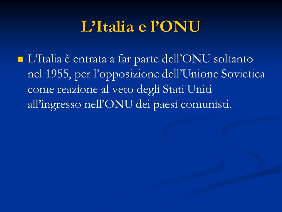 L'Italia e l'ONU