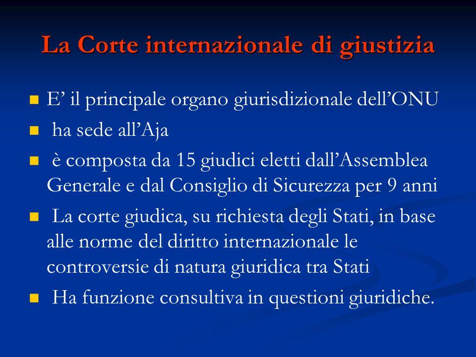 La Corte internazionale di giustizia