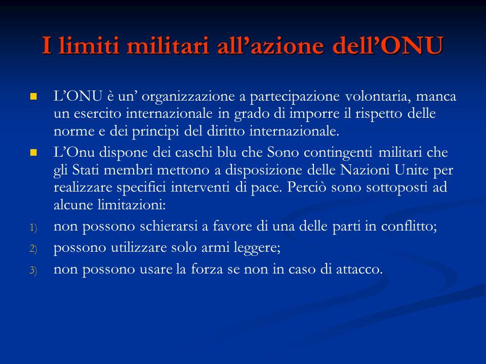 I limiti militari all'azione dell'ONU