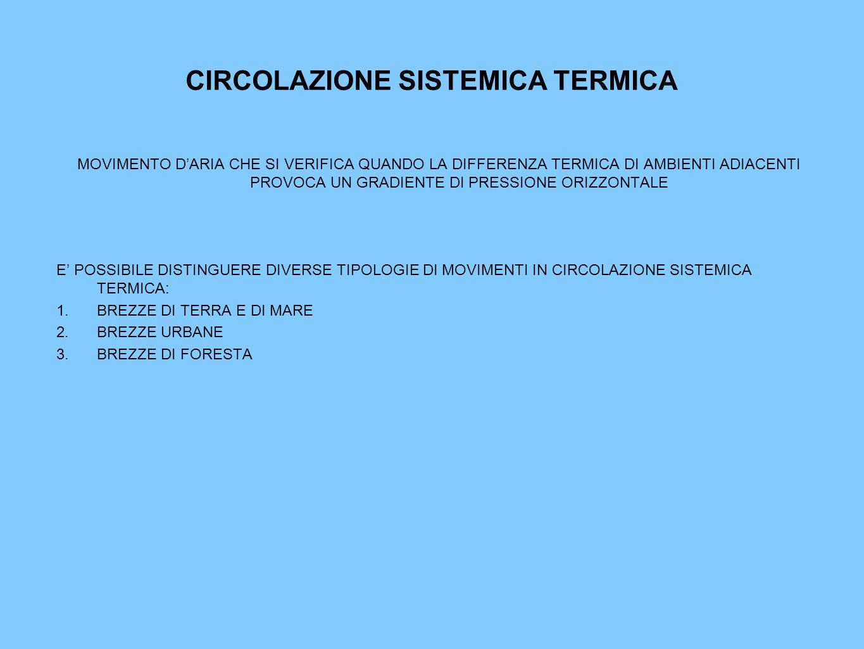 CIRCOLAZIONE SISTEMICA TERMICA