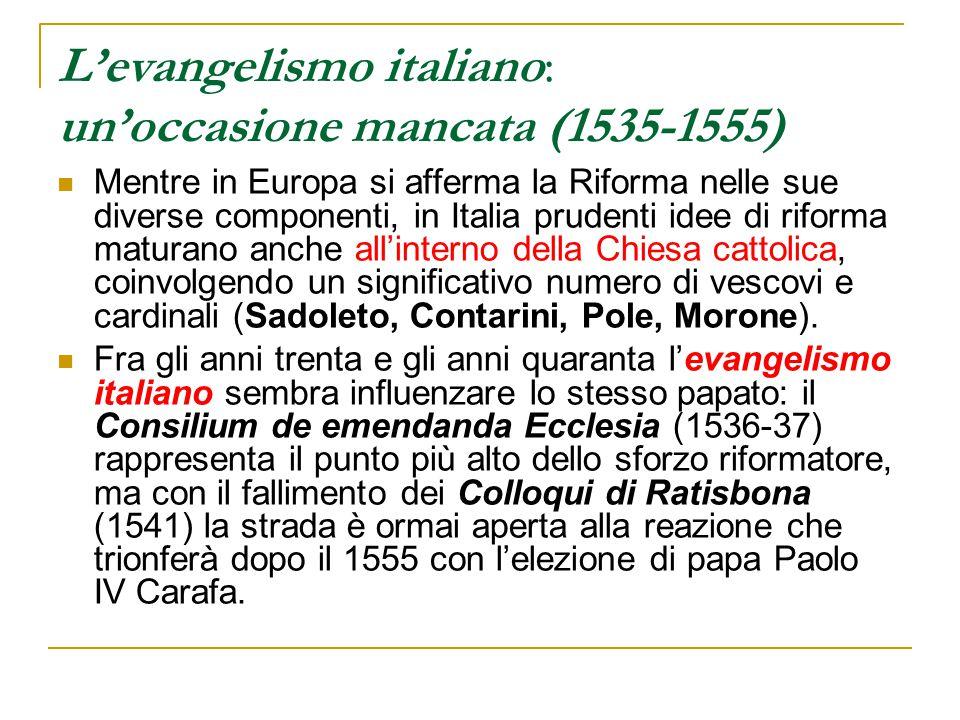 L'evangelismo italiano: un'occasione mancata (1535-1555)