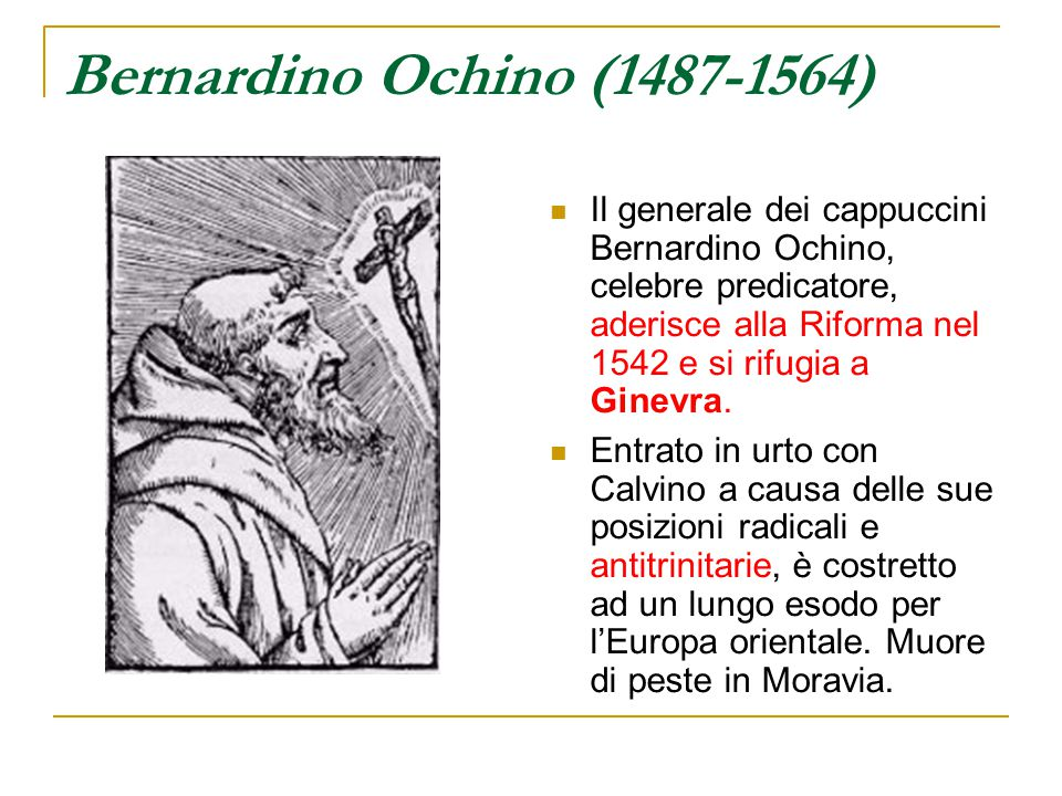 Bernardino Ochino (1487-1564)